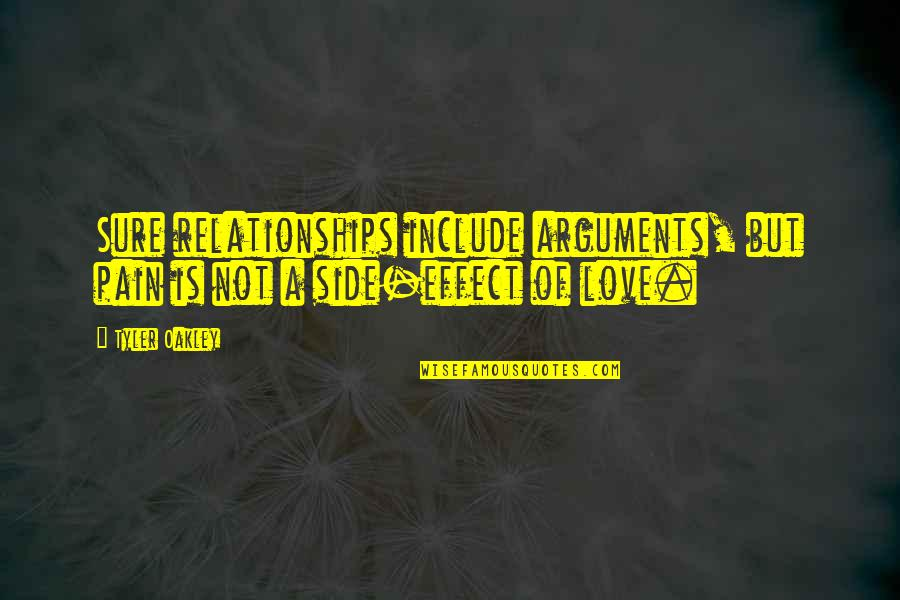 Domestic Violence Abuse Quotes By Tyler Oakley: Sure relationships include arguments, but pain is not