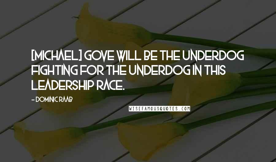 Dominic Raab quotes: [Michael] Gove will be the underdog fighting for the underdog in this leadership race.