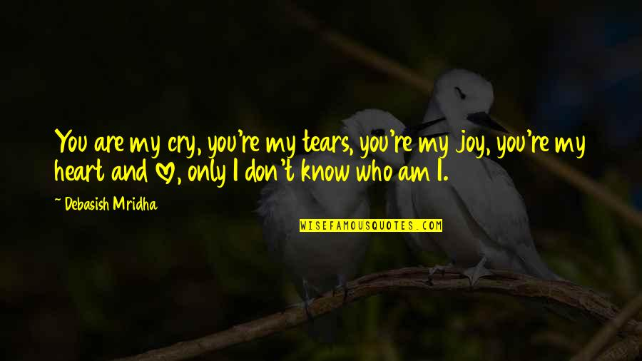 Don Cry Quotes By Debasish Mridha: You are my cry, you're my tears, you're