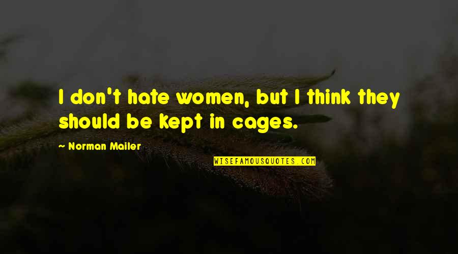 Don Norman Quotes By Norman Mailer: I don't hate women, but I think they