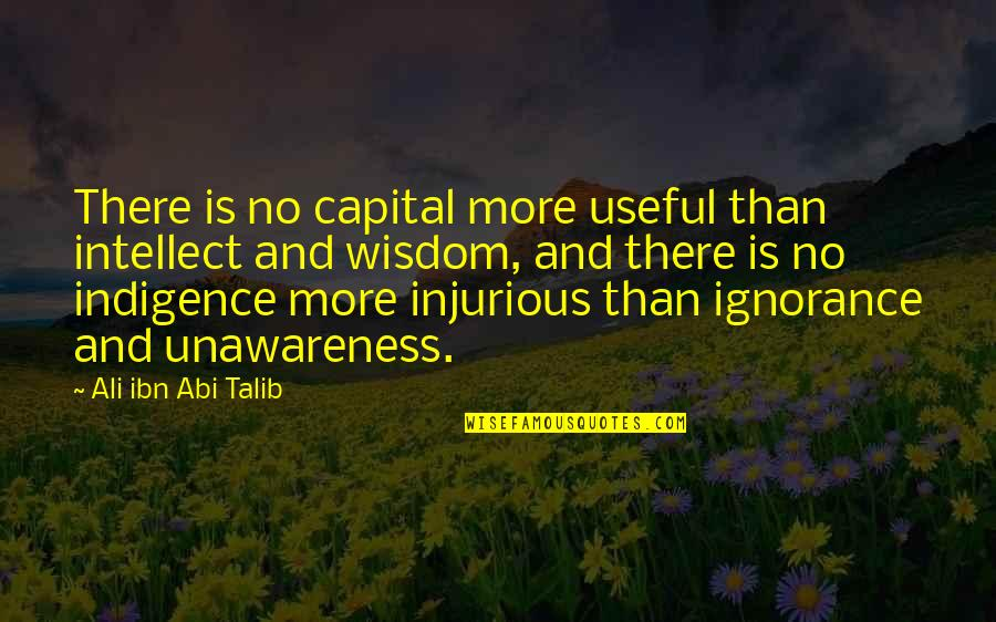 Don Test My Patience Quotes By Ali Ibn Abi Talib: There is no capital more useful than intellect