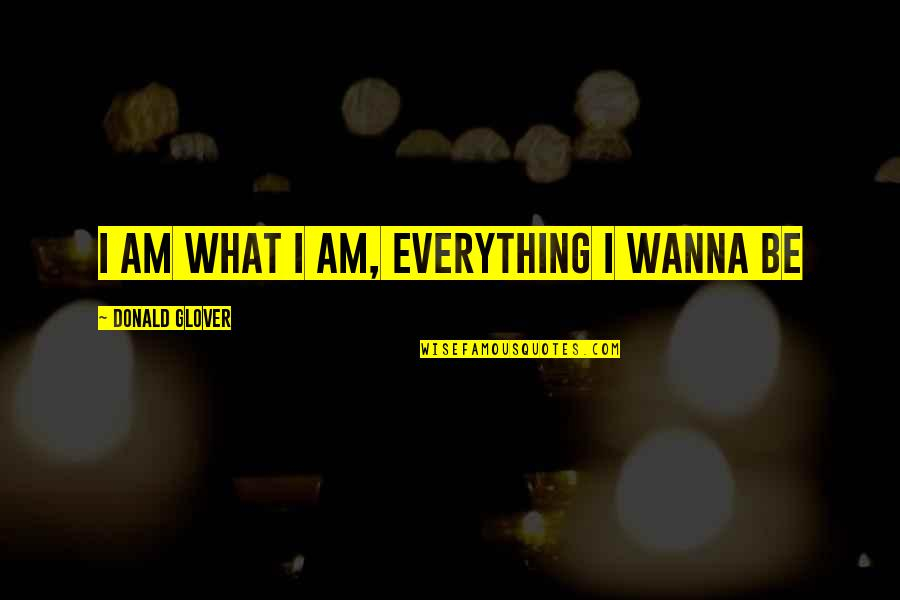 Donald Glover Quotes By Donald Glover: I am what I am, everything I wanna
