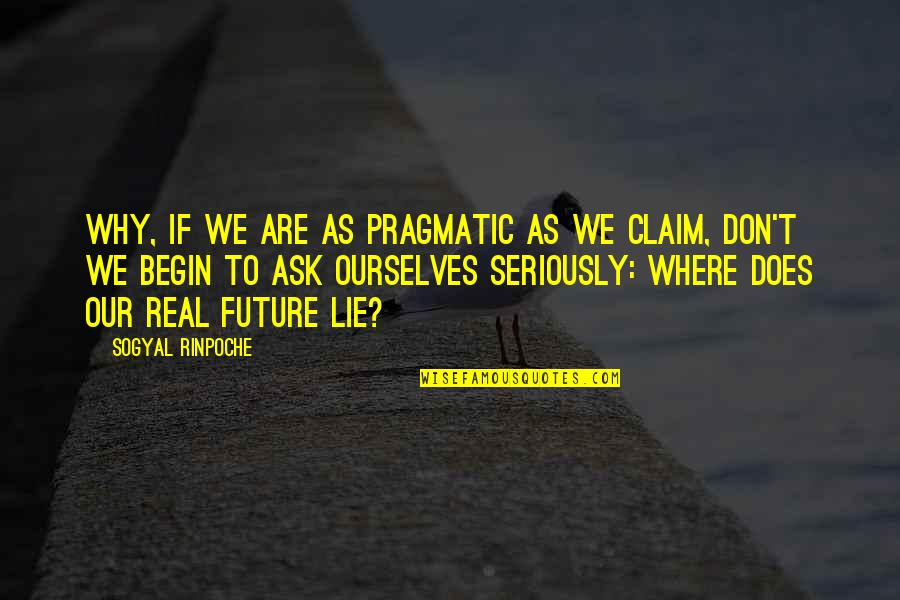 Don't Ask Why Quotes By Sogyal Rinpoche: Why, if we are as pragmatic as we