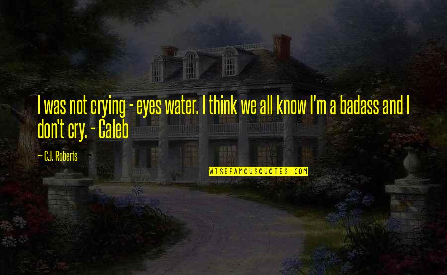 Don't Cry Over Quotes By C.J. Roberts: I was not crying - eyes water. I