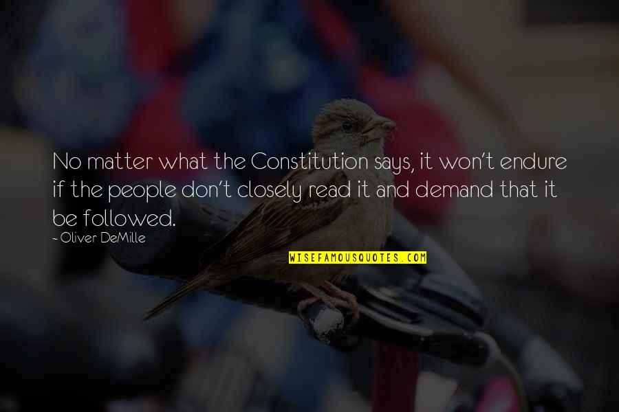 Don't Demand Quotes By Oliver DeMille: No matter what the Constitution says, it won't