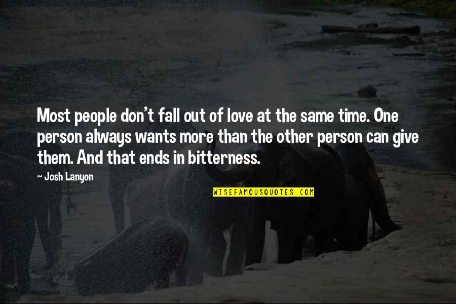 Don't Fall In Love Quotes By Josh Lanyon: Most people don't fall out of love at