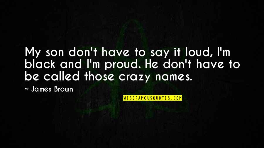 Don't Fall In Love When You're Lonely Quotes By James Brown: My son don't have to say it loud,