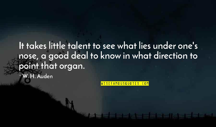 Don't Forget Friends Quotes By W. H. Auden: It takes little talent to see what lies