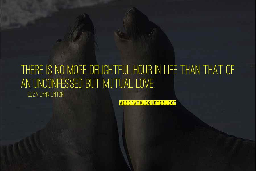 Don't Judge Funny Quotes By Eliza Lynn Linton: There is no more delightful hour in life