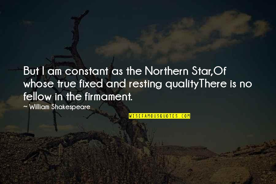 Don't Look Down On Others Quotes By William Shakespeare: But I am constant as the Northern Star,Of
