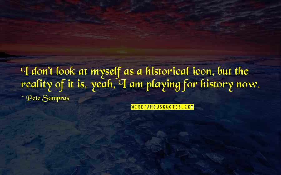 Don't Look Now Quotes By Pete Sampras: I don't look at myself as a historical
