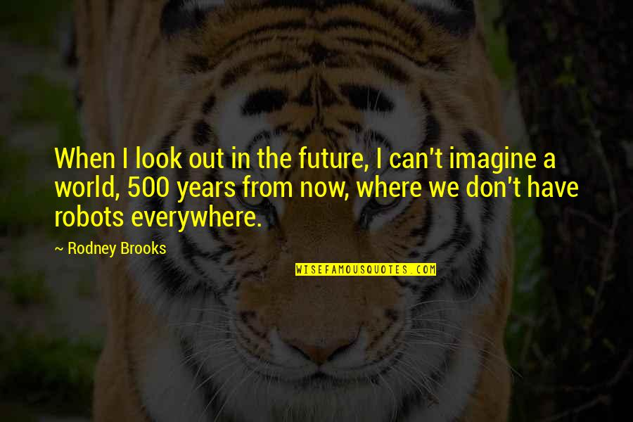 Don't Look Now Quotes By Rodney Brooks: When I look out in the future, I