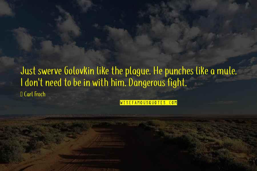 Don't Need Him Quotes By Carl Froch: Just swerve Golovkin like the plague. He punches