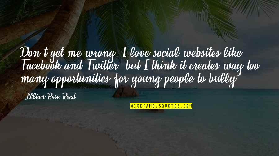 Don't Think Wrong Quotes By Jillian Rose Reed: Don't get me wrong: I love social websites