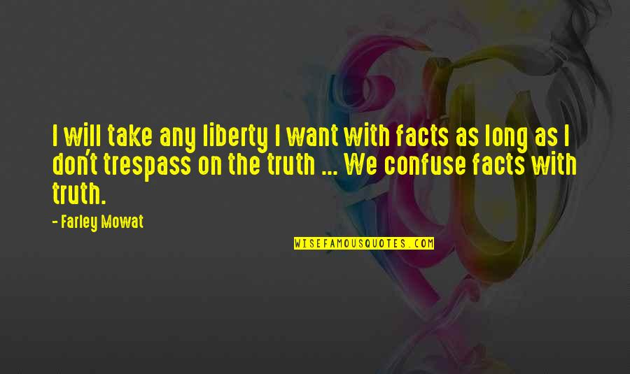 Don't Trespass Quotes By Farley Mowat: I will take any liberty I want with