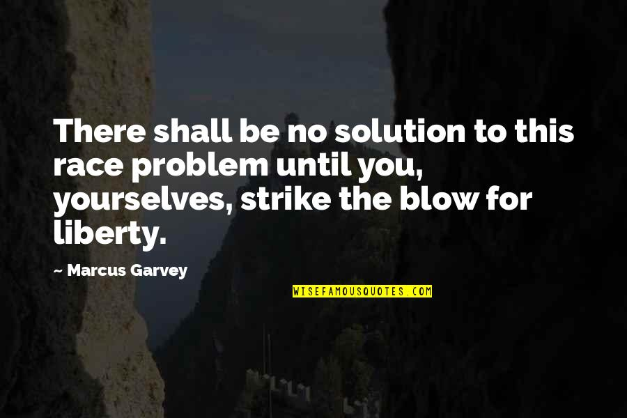 Don't Want To Talk To Anybody Quotes By Marcus Garvey: There shall be no solution to this race