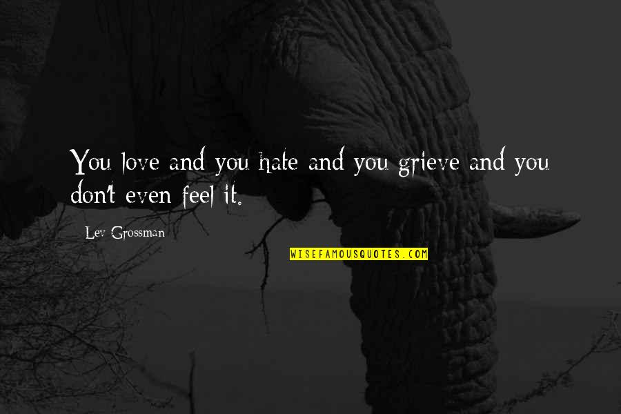 Don't You Hate It Quotes By Lev Grossman: You love and you hate and you grieve