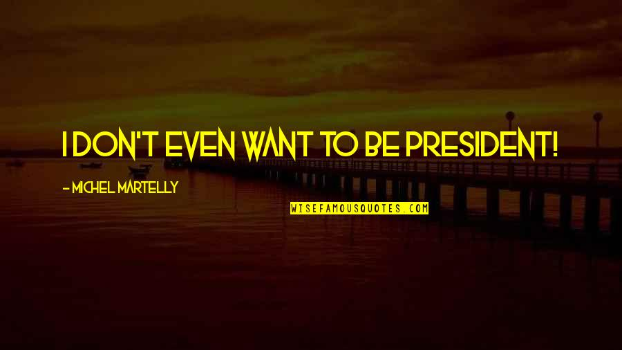 Don'ts Quotes By Michel Martelly: I don't even want to be president!