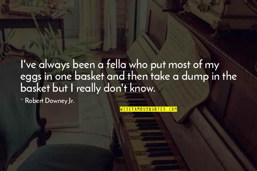 Don'ts Quotes By Robert Downey Jr.: I've always been a fella who put most