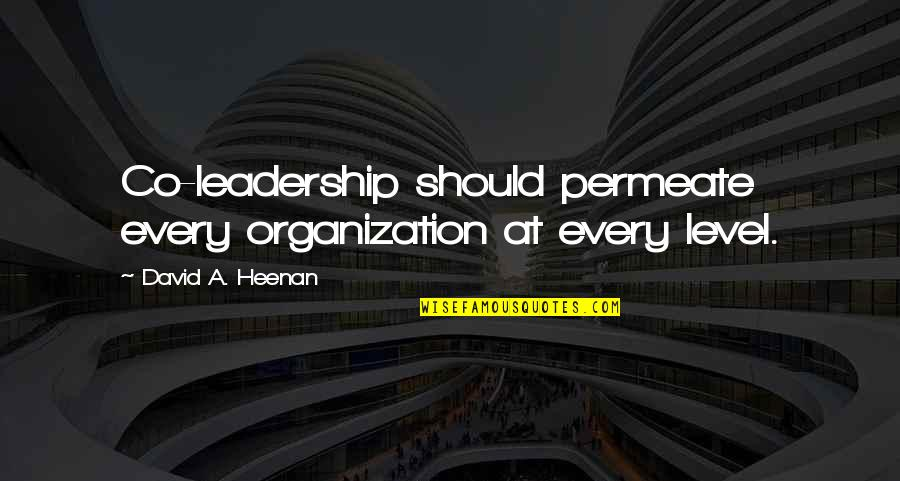 Dos Bat Escape Double Quotes By David A. Heenan: Co-leadership should permeate every organization at every level.