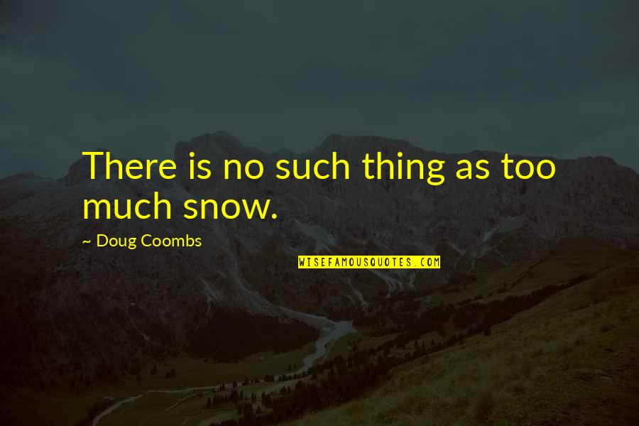 Doug Coombs Quotes By Doug Coombs: There is no such thing as too much