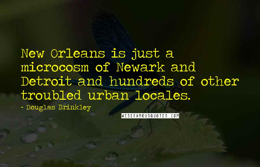 Douglas Brinkley quotes: New Orleans is just a microcosm of Newark and Detroit and hundreds of other troubled urban locales.