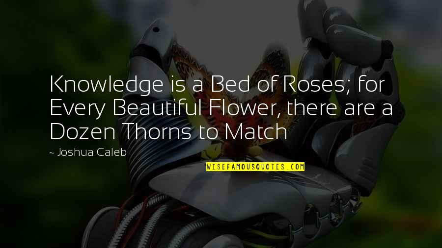 Dozen Quotes By Joshua Caleb: Knowledge is a Bed of Roses; for Every