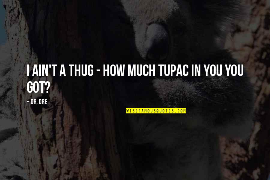 Dr Dre Quotes By Dr. Dre: I ain't a thug - how much Tupac