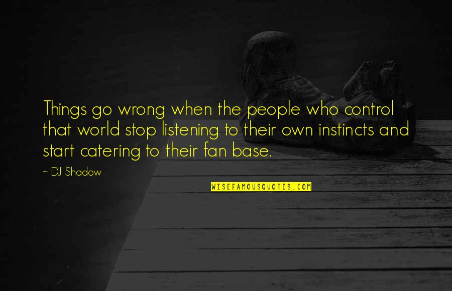 Dr Eben Alexander Quotes By DJ Shadow: Things go wrong when the people who control