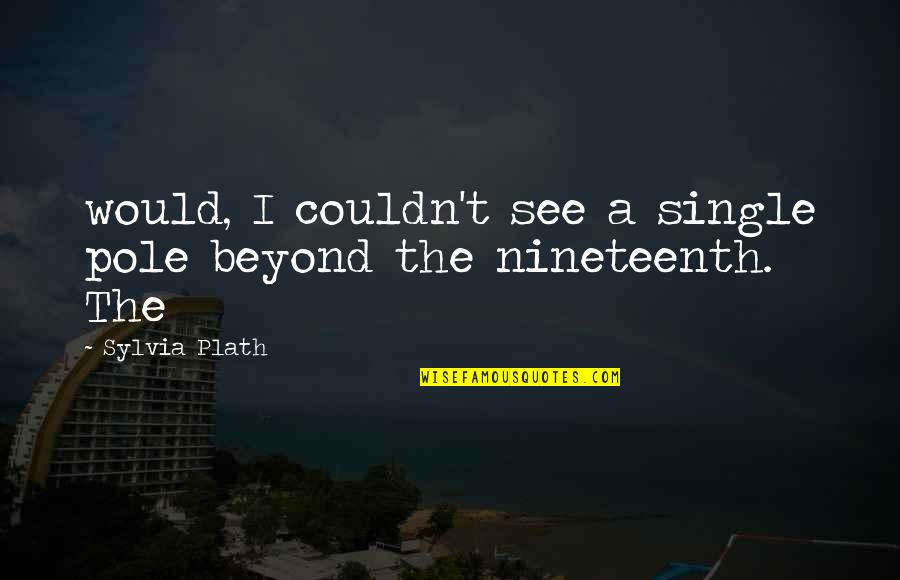 Dr Hew Len Quotes By Sylvia Plath: would, I couldn't see a single pole beyond