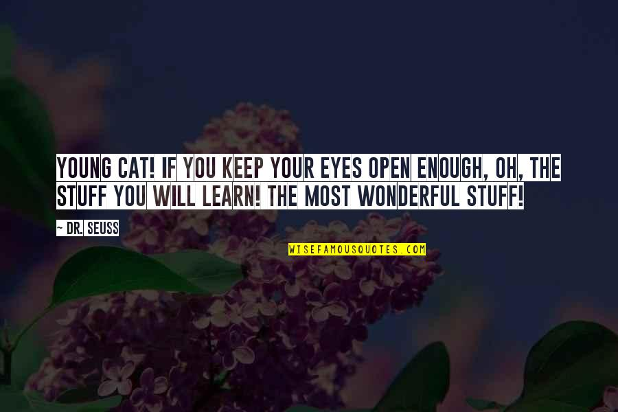 Dr.radhakrishnan Quotes By Dr. Seuss: Young cat! If you keep Your eyes open
