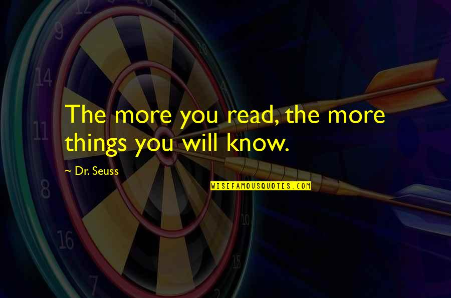 Dr.radhakrishnan Quotes By Dr. Seuss: The more you read, the more things you