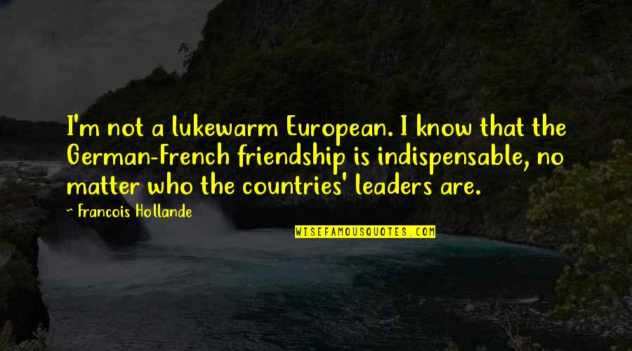 Dr Trevor Kletz Quotes By Francois Hollande: I'm not a lukewarm European. I know that