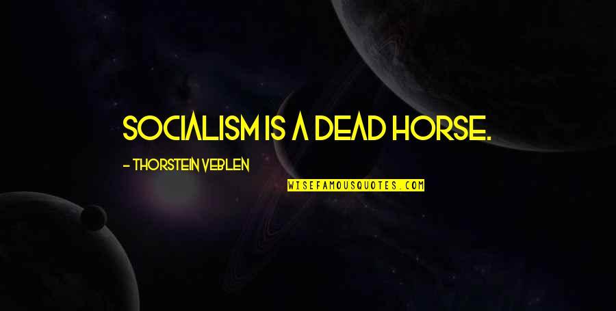Dr. Venkataswamy Quotes By Thorstein Veblen: Socialism is a dead horse.