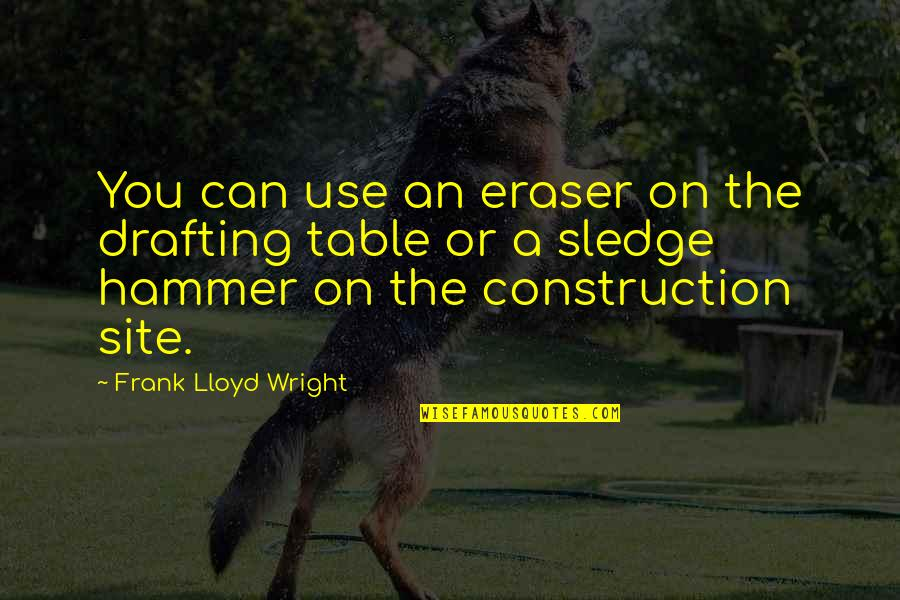 Drafting And Design Quotes By Frank Lloyd Wright: You can use an eraser on the drafting