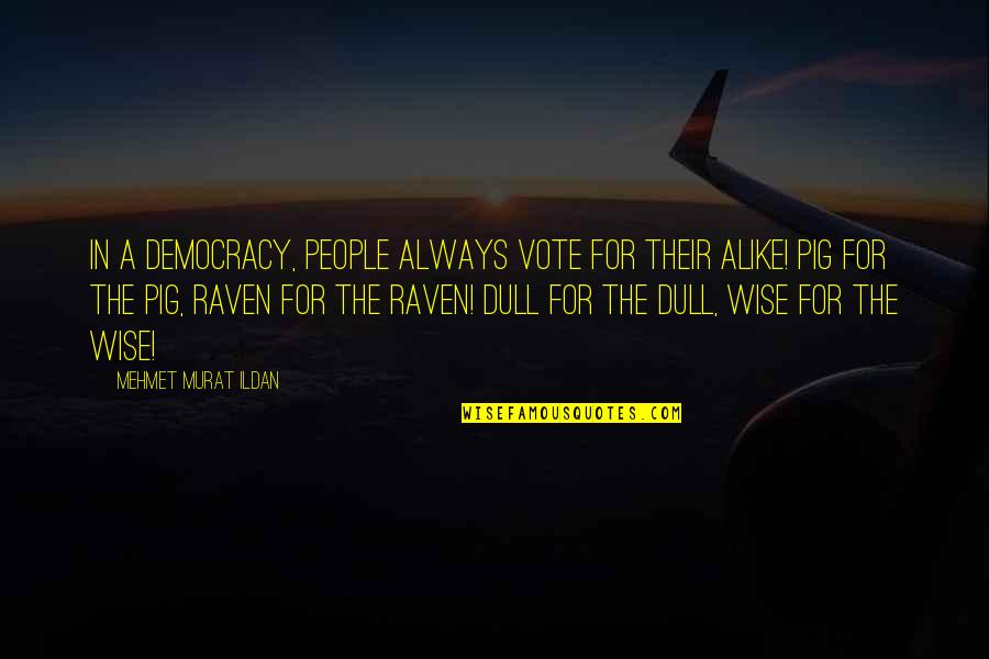 Drafting And Design Quotes By Mehmet Murat Ildan: In a democracy, people always vote for their