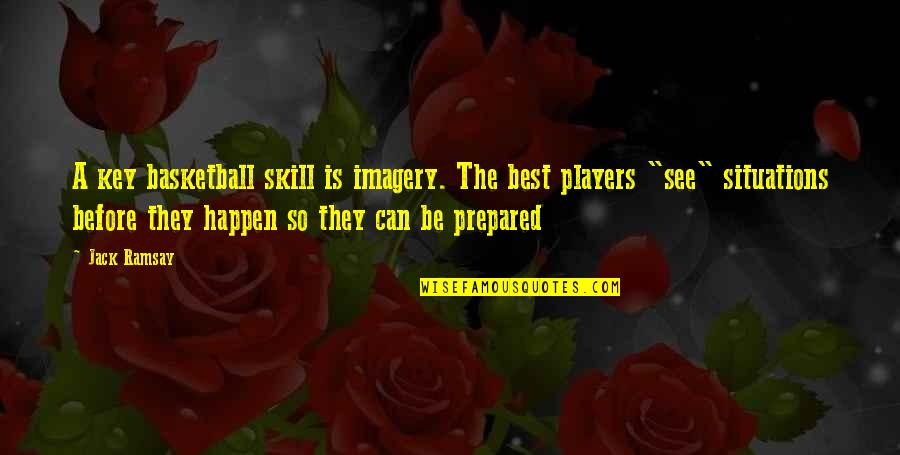 Dragon Ball Z Raging Blast 2 Character Quotes By Jack Ramsay: A key basketball skill is imagery. The best