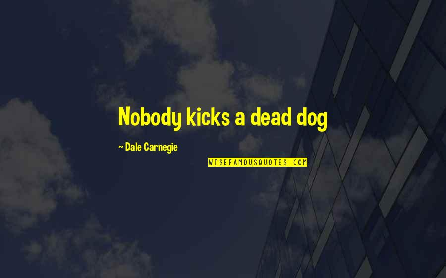 Drake We're Going Home Quotes By Dale Carnegie: Nobody kicks a dead dog