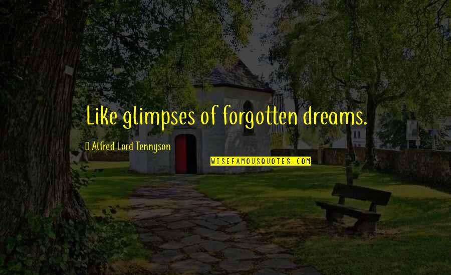 Dream Lord Quotes By Alfred Lord Tennyson: Like glimpses of forgotten dreams.