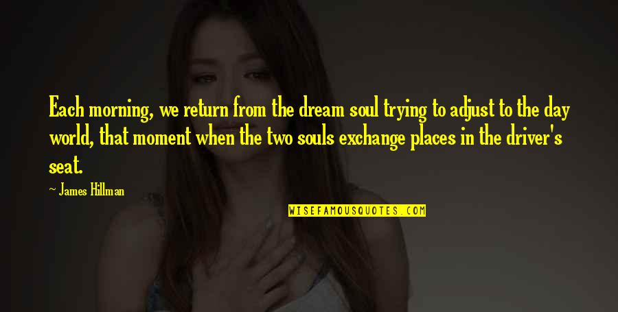 Dream World Quotes By James Hillman: Each morning, we return from the dream soul
