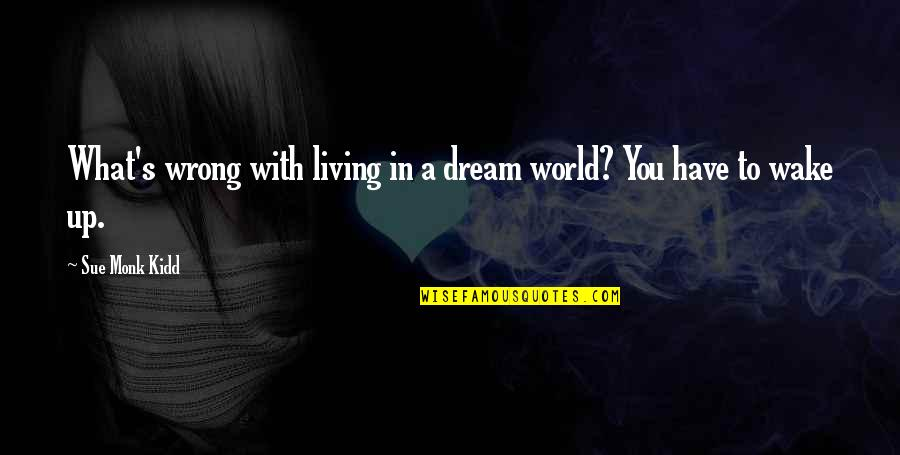 Dream World Quotes By Sue Monk Kidd: What's wrong with living in a dream world?