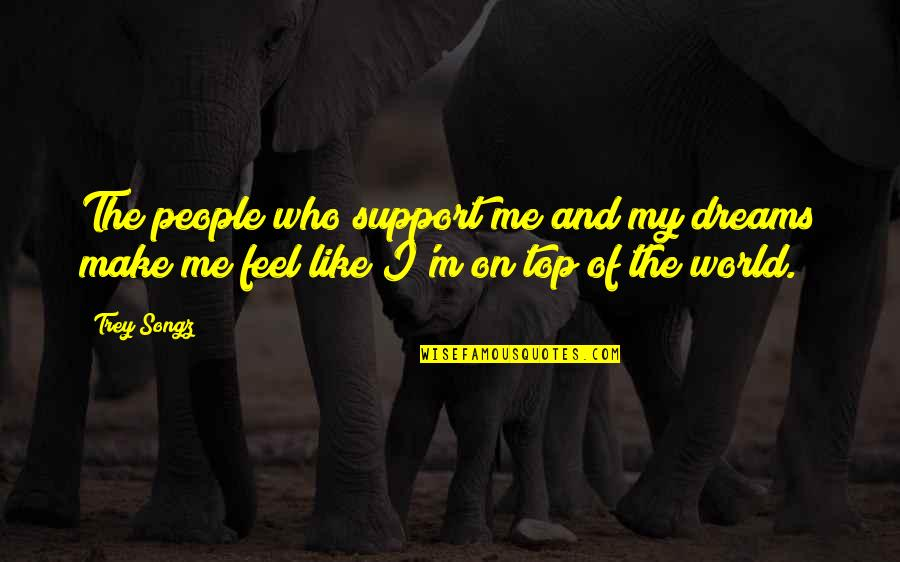 Dream World Quotes By Trey Songz: The people who support me and my dreams
