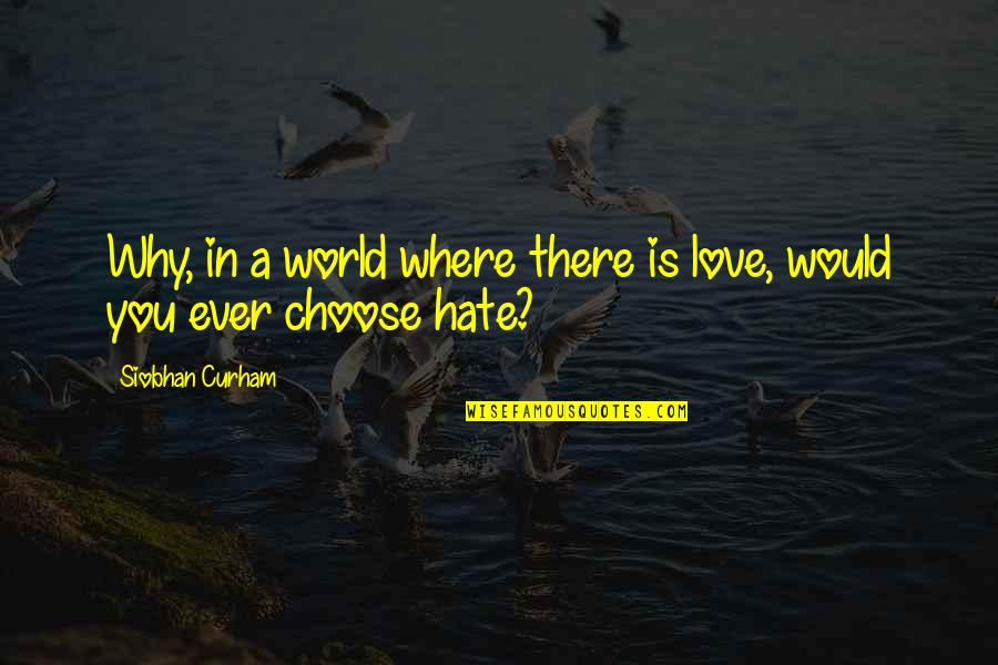Dreamers And Love Quotes By Siobhan Curham: Why, in a world where there is love,