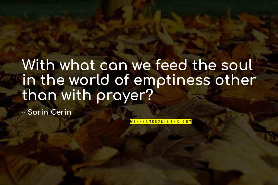 Dreamers And Love Quotes By Sorin Cerin: With what can we feed the soul in