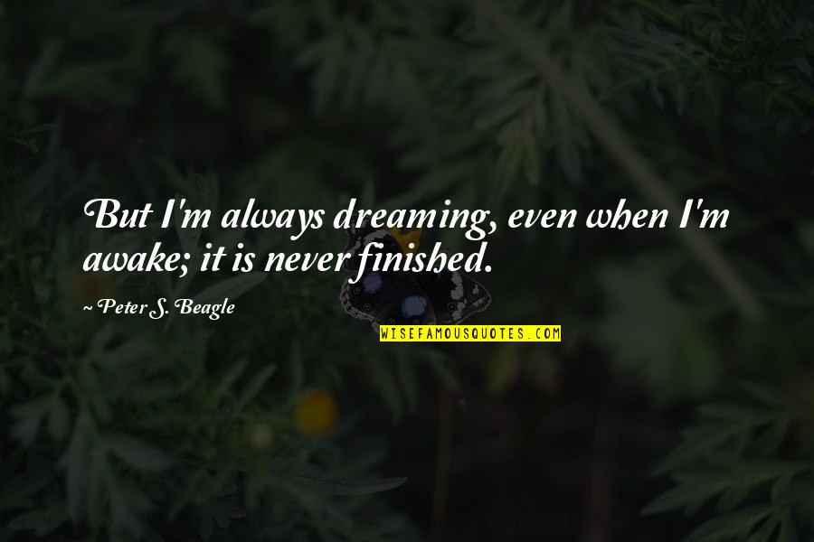 Dreaming Awake Quotes By Peter S. Beagle: But I'm always dreaming, even when I'm awake;