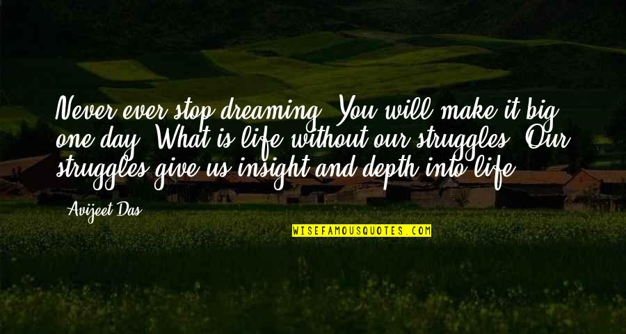 Dreaming Quotes And Quotes By Avijeet Das: Never ever stop dreaming. You will make it