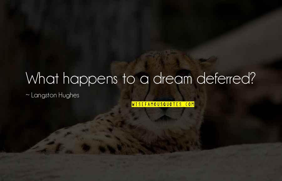Dreams Deferred Quotes By Langston Hughes: What happens to a dream deferred?