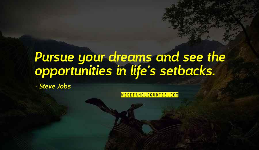Dreams In Life Quotes By Steve Jobs: Pursue your dreams and see the opportunities in