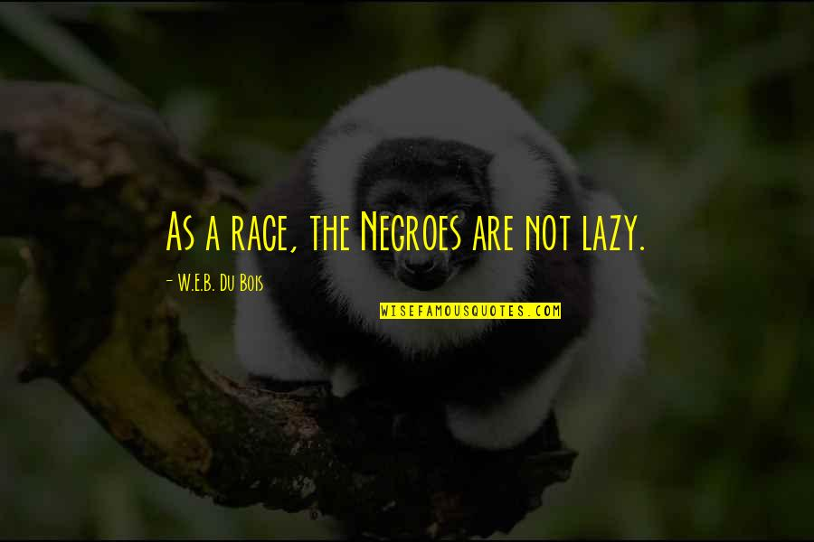 Dreamworld Quotes By W.E.B. Du Bois: As a race, the Negroes are not lazy.