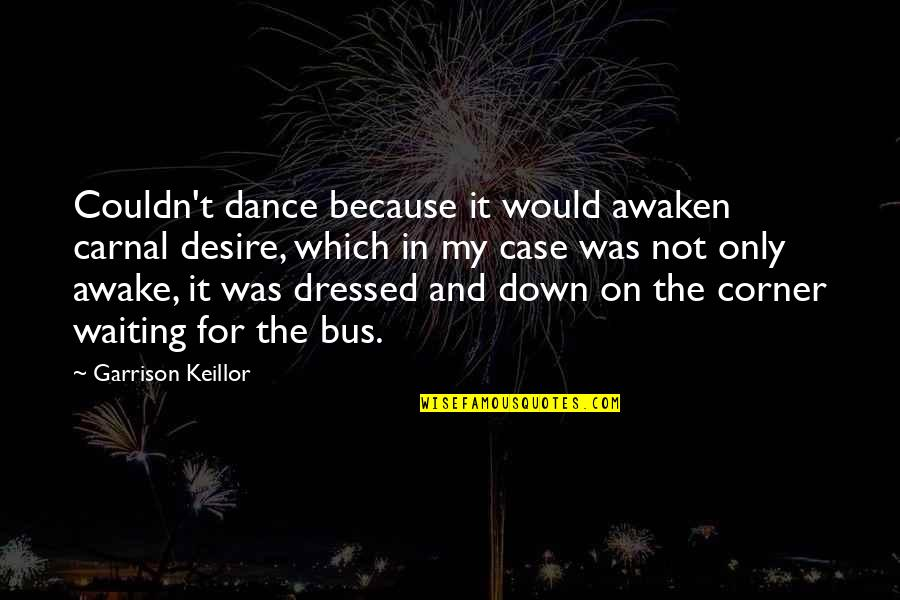 Dressed Down Quotes By Garrison Keillor: Couldn't dance because it would awaken carnal desire,